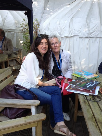 Anahita and Vivian French at EIBF