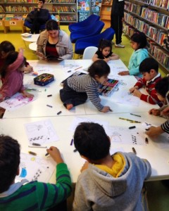 Colour-in competition at Pimlico library