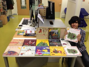 A show room for Tiny Owl Books with happy Nikan