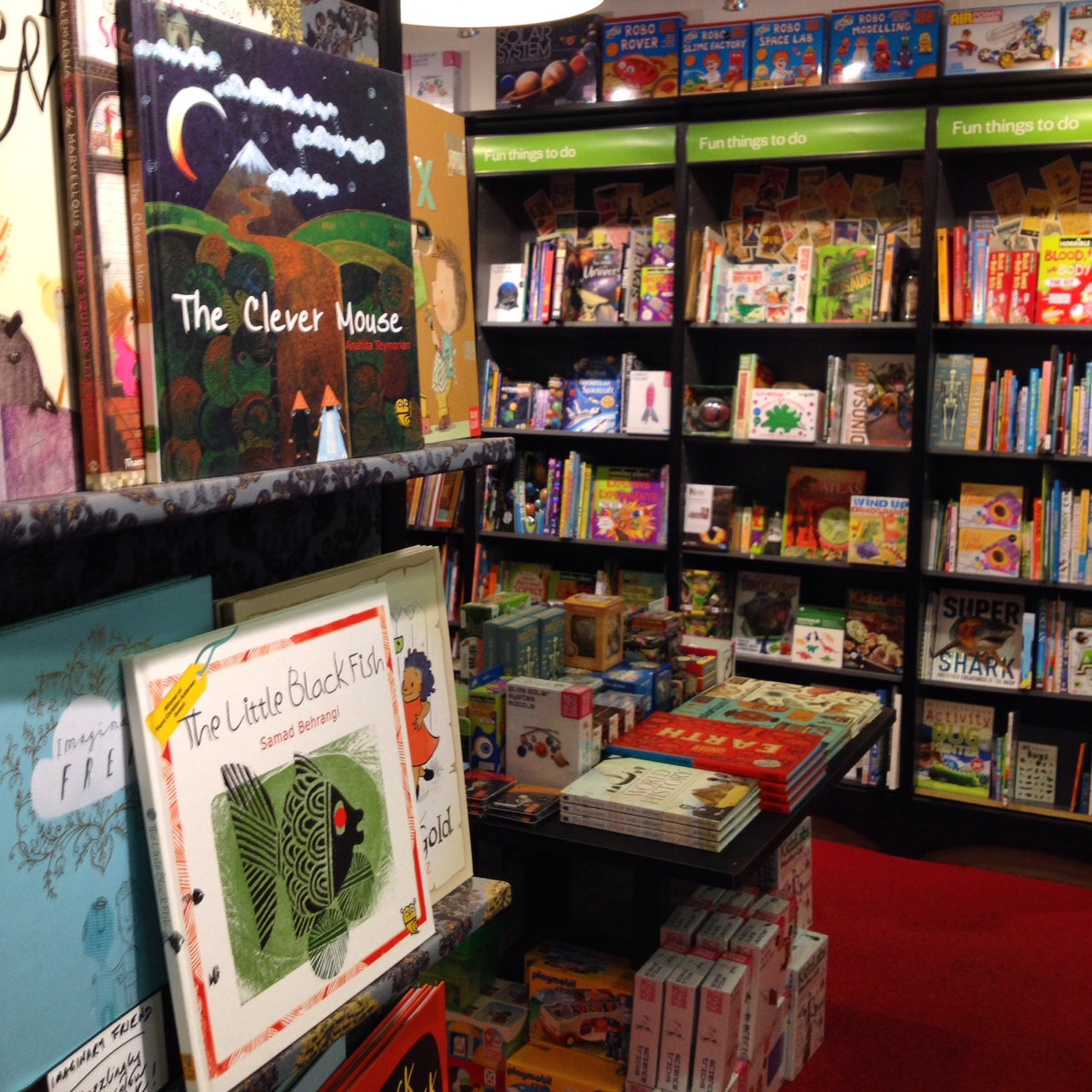 Tiny owl books in Waterstones