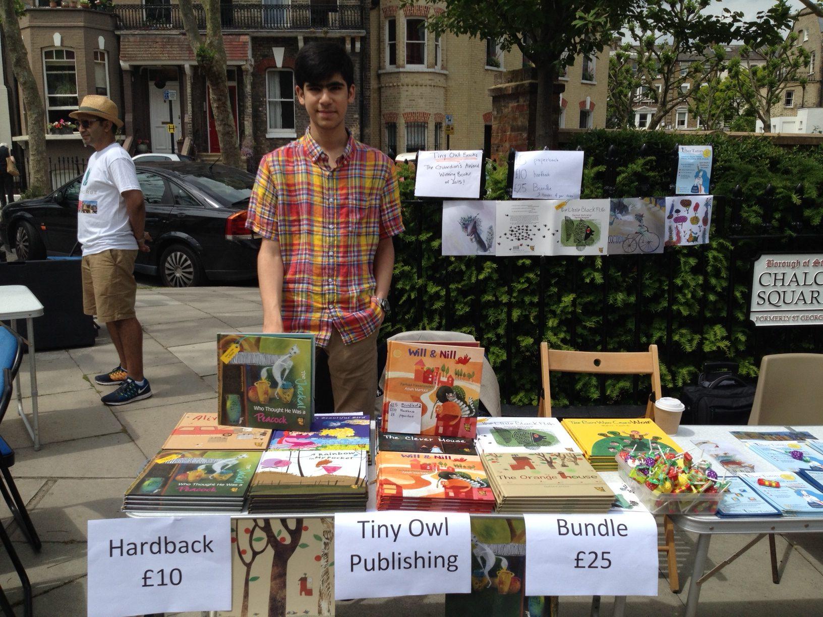 Tiny Owl Publishing at Primrose Hill Summer Fair 2016