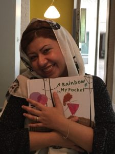 Hoda Hadadi, the illustrator of A Rainbow in My Pocket
