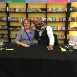 Pippa Goodhart along with Ehsan Abdollahi at Edinburgh Book Festival