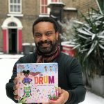 Ken Wilson-Max, author of The Drum celebrating the publication date of his book in such exceptionally snowy London!