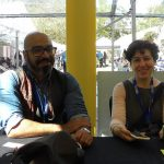 Illustrator Ehsan Abdollahi and Tiny Owl publisher Delaram Ghanimifard