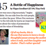 A Bottle of Happiness recommended for school libraries!